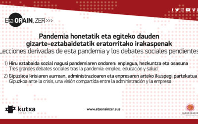 Pandemia honetatik eratorritako irakaspenak eta egiteke dauden gizarte-eztabaidak (Ekainak 10, 18:00-19: 30)